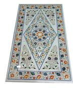 48 X 24 Marble Decorative Mosaic Coffee Center Table Top Marquetry Inlay
