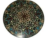 36 Marble Dining Center Table Top Floral Work Inlay Art Home Decor And Gifts