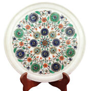 12 Marble Plate Inlay Pietra Dura Handmade Craft Home Decors And Gift