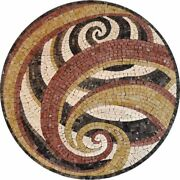 42'' Marble Table Top Mosaic Inlay Arts Work Living Room Decor