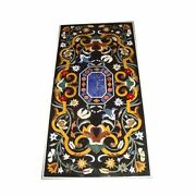 48 X 24 Marble Table Top Pietra Dura Inlay Handicraft Work Home Garden Decor