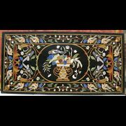 48 X 24 Pietra Dura Inlay Art Marble Dining Table Top For Home Decor
