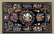48 X 32 Marble Center Coffee Table Top Inlay Handicraft Work For Home Decor