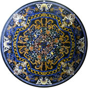 42 Pietra Dura Inlay Work Home Decor Black Marble Center Dining Table Top