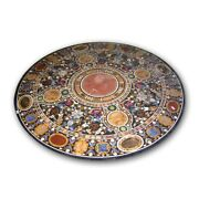 48 Marble Round Dining Table Top Pietra Dura Art Crafts Handmade Home Decor