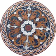 42and039and039 Center Marble Table Top Mosaic Inlay Arts Work Living Room Decor