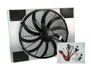 Spal 30102049 Fan And Old Air Shroud 16-1/8h X 22w X 4d, Harness And Adj. Sensor