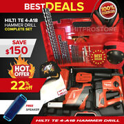 Hilti Te 4-a18 Cpc Cordless Hammer Drill, Preowned, Free Speaker, Bits And Extras