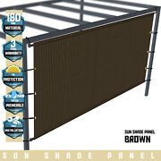 Larger Customize Outdoor Pergola Cover Canopy With Grommets Weight Rods Patio