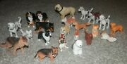Dogs Some Fuzzy /plastic Rubber Toy Animal Lot 22 Piece