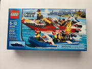 Lego 60005 City Fire Boat 222 Pieces Ages 5-12 With Box And Instructions.