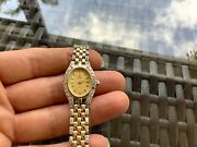 14k Yellow Gold Vicence Le Tempo De Italy Ladies Watch With 132 Diamonds