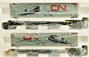 Mth Premier O Scale 20-95056 Canadian National 2-car Spine Car With48and039containers