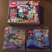 New Lego Friends Lot Rehearsal Stage 41004 Pop Star Andrea 30205 Bowling 30399