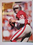 Authentic Fantastic Joe Montana Beckett Football Card Monthly 9 Dec 1990