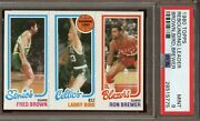 1980 Topps Larry Bird Rookie 31 Fred Brown 228 And Ron Brewer 198 Psa 9 Mint