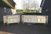Antique Pair Of French Dining Room Buffets Cupboards- Louis Xvi