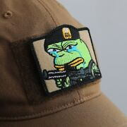 Iron Romeo Crying Airborne Pepe Officer Patch With Aerographer Army Cap New