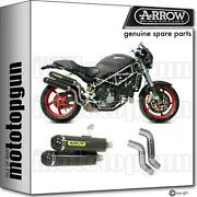 Race Silencer Arrow Round Carbon C Ducati Monster S4rs Ts 06/07