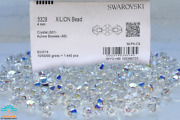 3mm/4mm-001ab Elements 5328 Xilion Crystal Bicone Bds Factory Pack