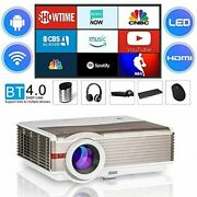 Wikish Video Projector,bluetooth Wifi Projector 5000 Lumen Led Lcd Projector
