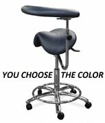 Galaxy 2085-r Waterfall Saddle Dental Hygienist Assistant's Seat Stool Chair