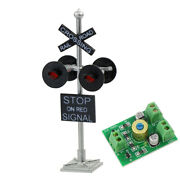 6 Units Ho Scale Railroad Crossing Signals 4 Leds Circuit Board Flashers