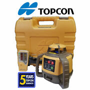 Topcon Rl-h5a Auto Laser Level- Alkaline Battery W/ Case Rod Clamp And Detector