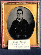 Important And Historic Ruby Ambrotype - John Vogan The Founder Of Voganville, Pa.