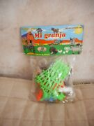 Vintage Toy Playset Farm Figures Animals Plastic Made In Mexico