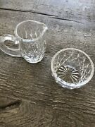 """Waterford Crystal Creamer 4"""" And Sugar Bowl - Lismore Pattern - Mint Condition"""