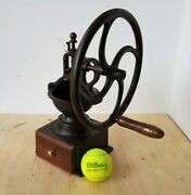 Rare Cast Iron Coffee Mill Balance Wheel Peugeot Freres Model A0 Made In France