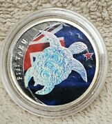 2013 1/2 Oz Silver Coin Round Fiji Taku 1 Silver With Hologram And Color