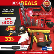 Hilti Te 46 Hammer Drill Free Laser Sds Plus Adapter Bits Extras Fast Ship