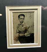 Antique Tintype Of African American Girl, 6th Plate In Modern Frame L414