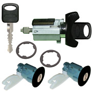 Ford Ignition Key Switch Lock Cylinder And Two Door Lock Tumbler Set Black 2 Keys