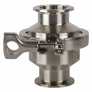 Check Valve   Tri Clamp 1.5 Inch - Stainless Steel Ss316 - 25 Pack