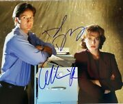 David Duchovny Gillian Anderson Signed Autographed 11x14 Photo X-files Mulder