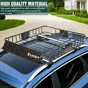 64and039and039 Universal Roof Rack W/extension Cargo Suv Top Luggage Carrier Basket Holder