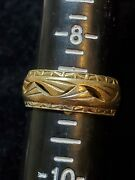 14k Solid Gold Mens Wedding Band Scrap Or Not 7.23 Grams White Yellow Half Sz 9