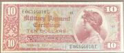 Pmg 58 Military Payment Certificate 10 1st Printing Series 521