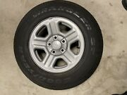Jeep Wrangler Factory Oem Steel Rims And Tires P225/75r16 Goodyear.used Set Of 5