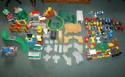 Fisher Price Geotrax Train Toy Sets Lot - 245 Pieces-trains+tracks+accessories