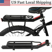 Aluminum Alloy Bike Bicycle Rear Seat Rack Luggage Shelf Rack Carrier Cycling Us
