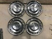 1960 Chevy Impala/corvette Double Flags Chevrolet Hubcap 14 Set Of 4