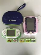Leap Frog Leapster Explorer Handheld Learning System Lot With 5 Games