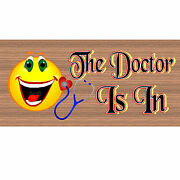 Doctor Wood Signs -the Doctor Is In Gs 1767 - Wood Plaque Doctor Office