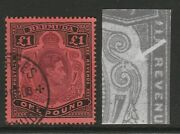 Bermuda 1938-53 Andpound1 With And039broken Lower Right Scrolland039 Sg 121ce Fine Used.