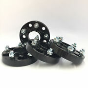 4pc Black Hubcentric Wheel Spacers 5x120 64.1mm Cb |25mm 1 Inch Fits Civic Typer
