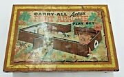 Fort Apache Playset Metal Tin W/ Plastic Figures Antique Vintage Toy Wow